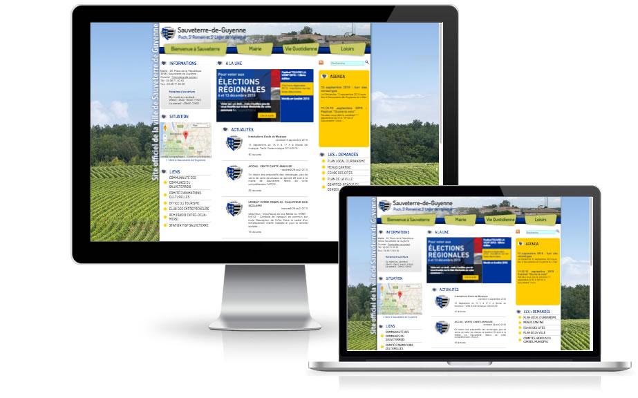 Nouveau site Internet pour Sauveterre de Guyenne