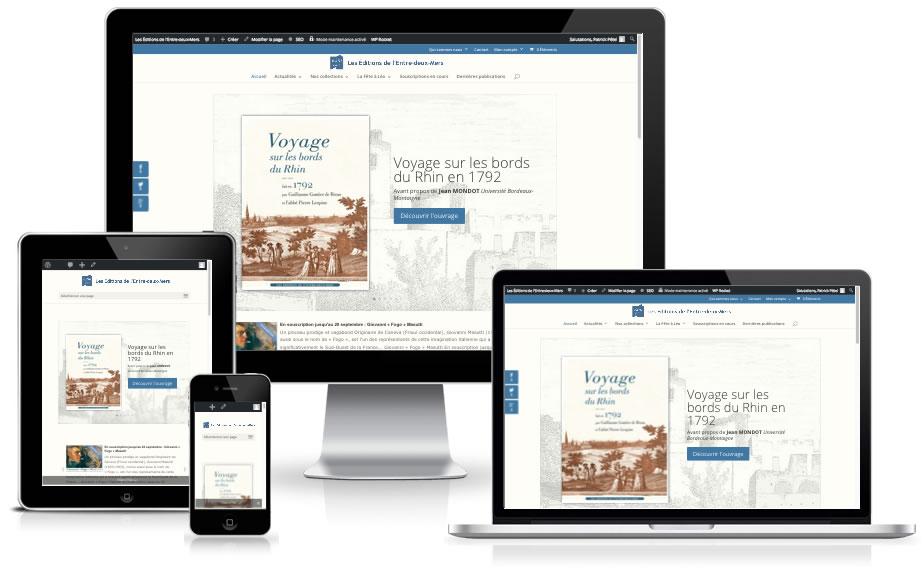 Un nouveau site pour les Éditions de l'Entre-deux-mers